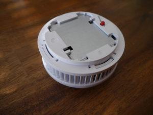 Rauchmelder Pyrexx Test Unterseite