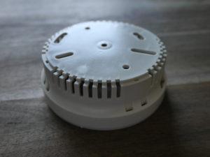 Montageplatte des Detectomat Rauchmelder