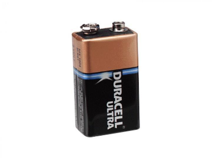 9V-Block Alkaline Duracell Ultra